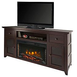 Muskoka Winchester 56-inch Media Electric Fireplace in Dark Walnut
