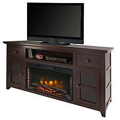 Winchester 56-inch Media Electric Fireplace in Dark Walnut