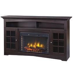 Muskoka Huntley 59-inch Electric Fireplace and Media Stand in Espresso