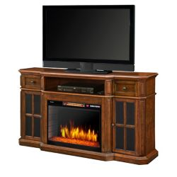 Muskoka Sinclair 60 Inch Media Fireplace w/LED Lights and Bluetooth - Aged Cherry