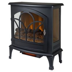 Muskoka 25 Inch Curved Front Panoramic Stove Glass Front - Black