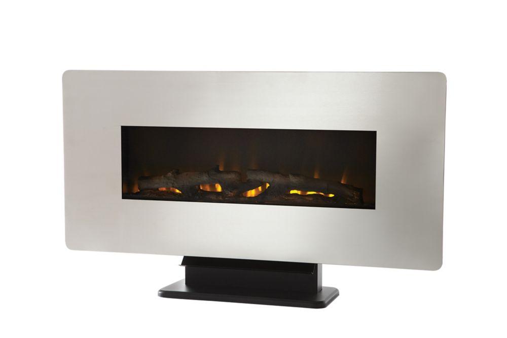 Muskoka 36-inch Wall Mount Electric Fireplace in Zinc