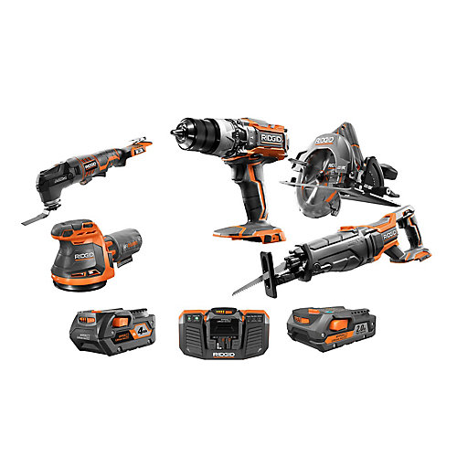 18V Gen5X Cordless Combo Kit (6-Tool) with (1) 4.0Ah Battery and (1) 2.0Ah Battery, Charger and Bag