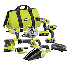 18-Volt ONE+ Cordless Lithium-Ion Combo Kit (8-Tool) with (2) 1.3 Ah Batteries, Charger and Bag