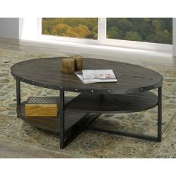Brassex Inc. Oxford Coffee Table, Dark Walnut