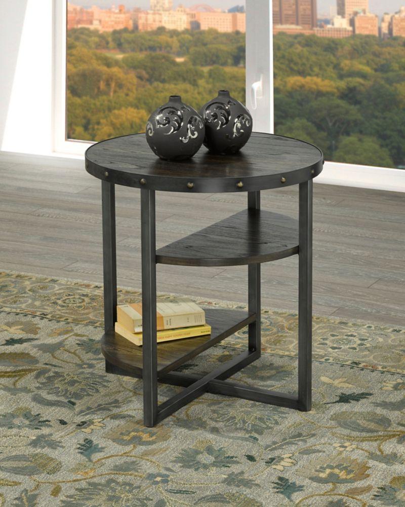 Oxford End Table, Dark Walnut