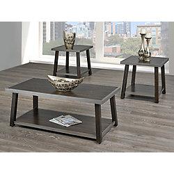 Brassex Inc. Indira 3-Piece Coffee Table Set, Walnut