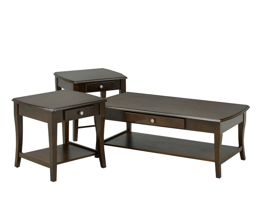 Hampton 3-Piece Coffee Table Set, Espresso