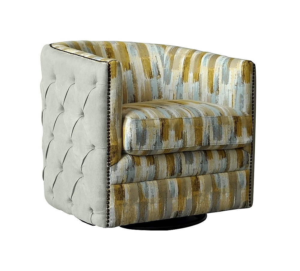Excellent Ackton Contemporary Club Polyester Polyester Blend Accent Chair In Beige With Chevron Pattern Ocoug Best Dining Table And Chair Ideas Images Ocougorg