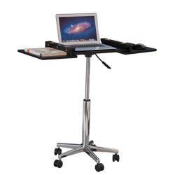 Brassex Inc. Laptop Stand with Adj. Height, Black
