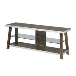 Brassex Inc. Scottsdale 60 Inch TV Stand, Walnut