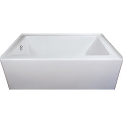 Mirolin Adora 60-inch W x 20-inch H Acrylic Skirted Bath Left Hand in White