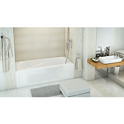 Mirolin White Phoenix Acrylic 2 Skirted Bath Right Hand in White
