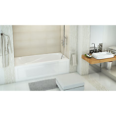 White Phoenix Acrylic 2 Skirted Bath Right Hand in White