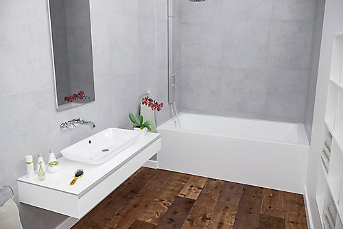 home tiling feet skirted double right with tec flange p and plus drain bathtub hand elegance en acri