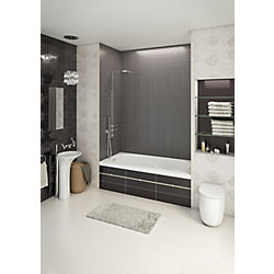 Mirolin 60-inch W x 20-inch H Gryphon Alcove Bath Left Hand in White
