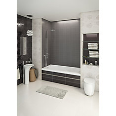 60-inch W x 20-inch H Gryphon Alcove Bath Left Hand in White