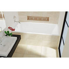 White Envy SlimLine Alcove Bath Left Hand