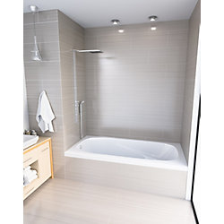 Mirolin White Gryphon 3 Alcove Bath Left Hand