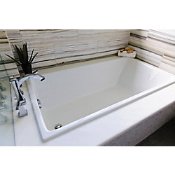 Mirolin Fina SlimLine Drop In Bath in White