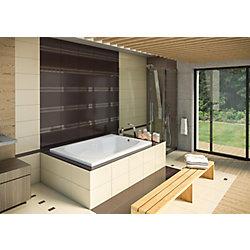Mirolin 60-inch W x 20-inch H Hudson 5 Drop Acrylic In Bath in White
