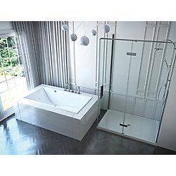Mirolin 66-inch W x 22-inch H Chaise Acrylic SlimLine Drop In Bath in White