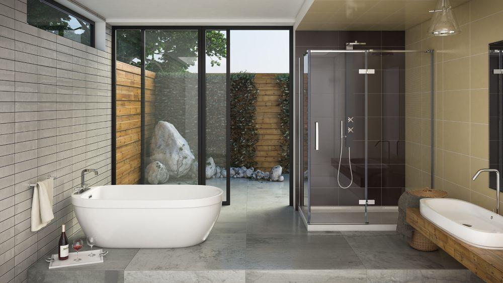 Mirolin Tuscon 2 Acrylic Whirlpool Bathtub , Right Hand | The Home ...