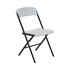 Contemporary Essential Folding Chair (white granite) - (4-Pack)
