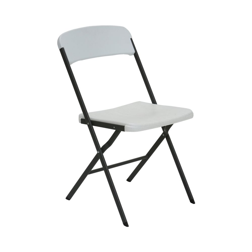 Lifetime Contemporary Essential Folding Chair (white granite) - 4pk