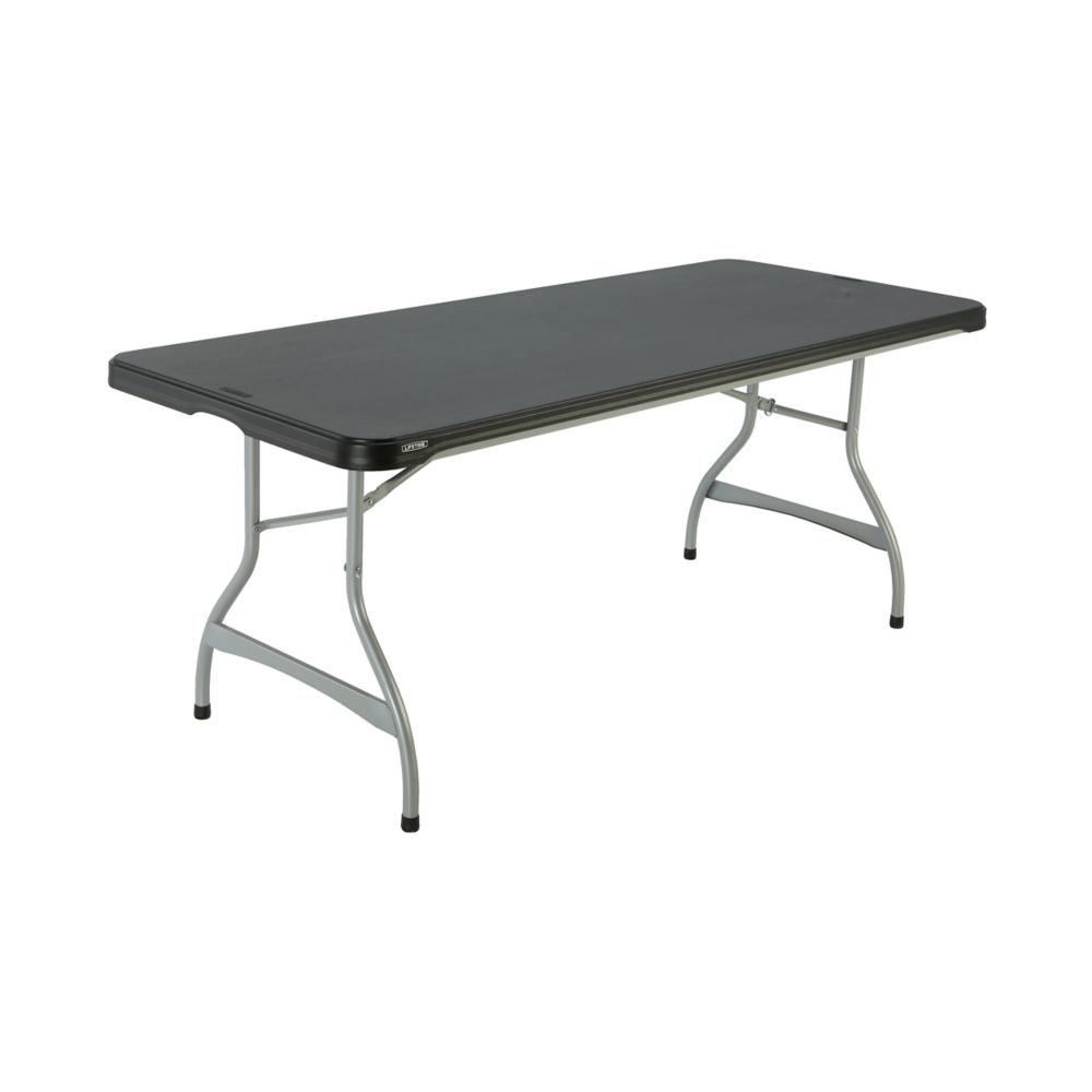 lifetime 4 ft adjustable folding table white granite the home depot canada. Black Bedroom Furniture Sets. Home Design Ideas