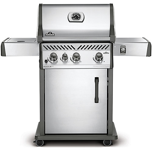 Rogue SE 425 Propane BBQ with Range Side Burner in Stainless Steel