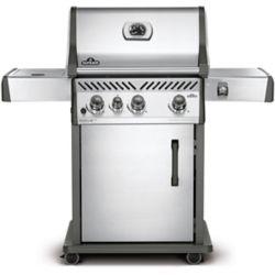 Napoleon Barbecue au gaz naturel avec brûleur latéral de cuisinière Rogue SE 425, acier inoxydable