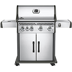 Rogue SE 525 Natural Gas BBQ with Infrared Side Burner in Stainless Steel