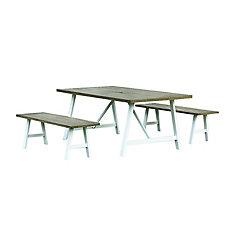 Ensemble table et bancs Jamieson Park, 3 pièces