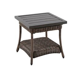 Hampton Bay Beacon Park All-Weather Wicker Patio Accent Table