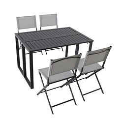 Hampton Bay Ocean Springs 5-Piece Folding Patio Dining Set