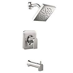 Robinet pour baignoire et douche Genta, 1poignée, douchette, chrome (soupape incluse)