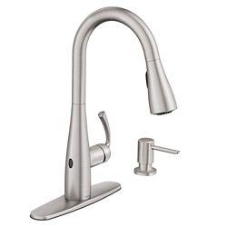 MOEN Essie Single-Handle Pull-Down Sprayer Kitchen Faucet w/ MotionSense Wave in Spot Resist Stainless
