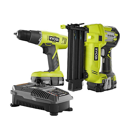 18V ONE+Lithium-Ion Drill/Driver and Brad Nailer Combo Kit (2-Tool)