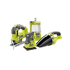 18V ONE+ Cordless Combo Kit (4-Tool) with Assorted ONE+ Tools (Tools Only)