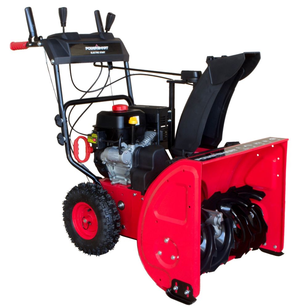 24-inch 212cc Two-Stage Gas-Powered Snow Blower with Electric Start & Power Assist