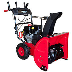 24 inch, 212cc Two Stage Electric Start Gas Snow Blower with Power Assist