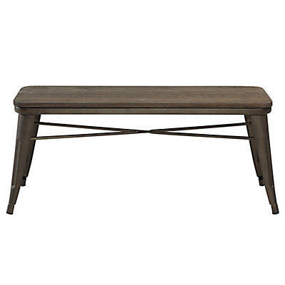 nspire Modus Metal Frame Bench in Brown | The Home Depot Canada