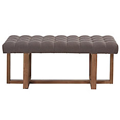 Tavis Solid Wood Frame Bench in Grey