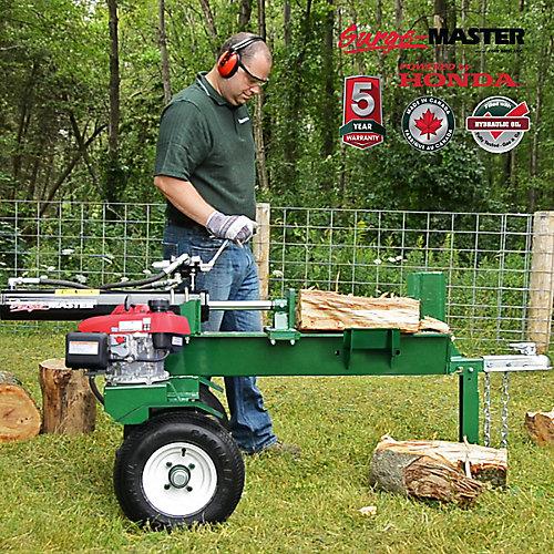 Scie à bois horizontale, moteur Honda GC160, coupe de 24 po, 20 tonnes