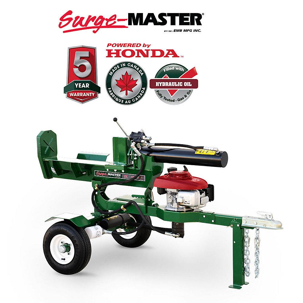 20 Ton Horizontal-Vertical 24-inch Stroke Log Splitter with Honda GC160  Engine