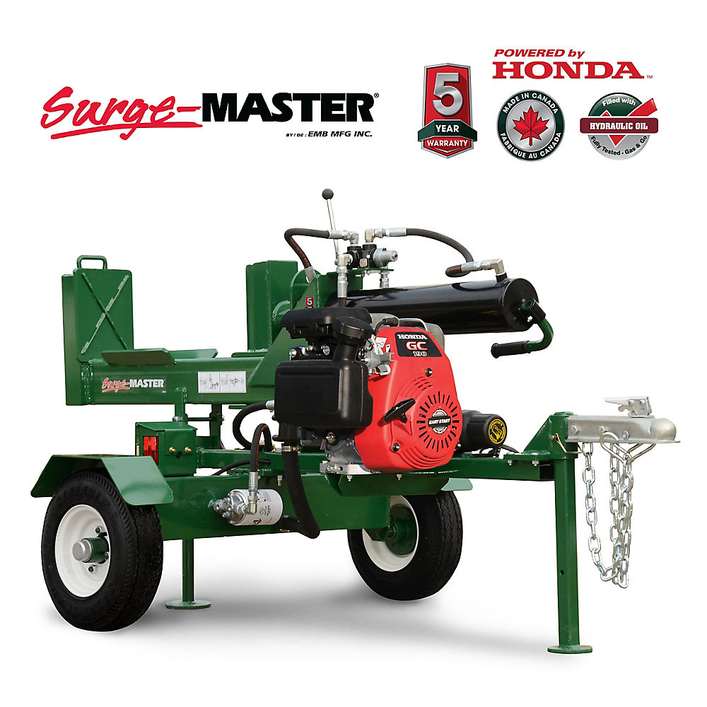 25 Ton Horizontal-Vertical 24-inch Stroke Log Splitter with Honda GC190  Engine
