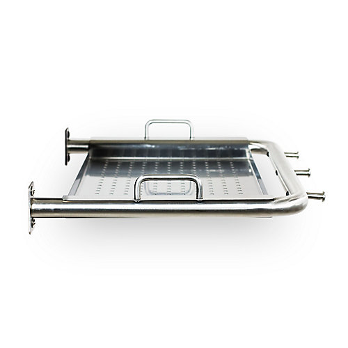Stainless Steel Side Shelf with Serving Tray