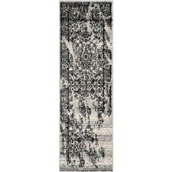Safavieh Adirondack Alexa Silver / Black 2 ft. 6 inch x 18 ft. Indoor Runner