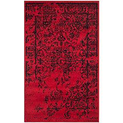 Safavieh Adirondack Alexa Red / Black 3 ft. x 5 ft. Indoor Area Rug
